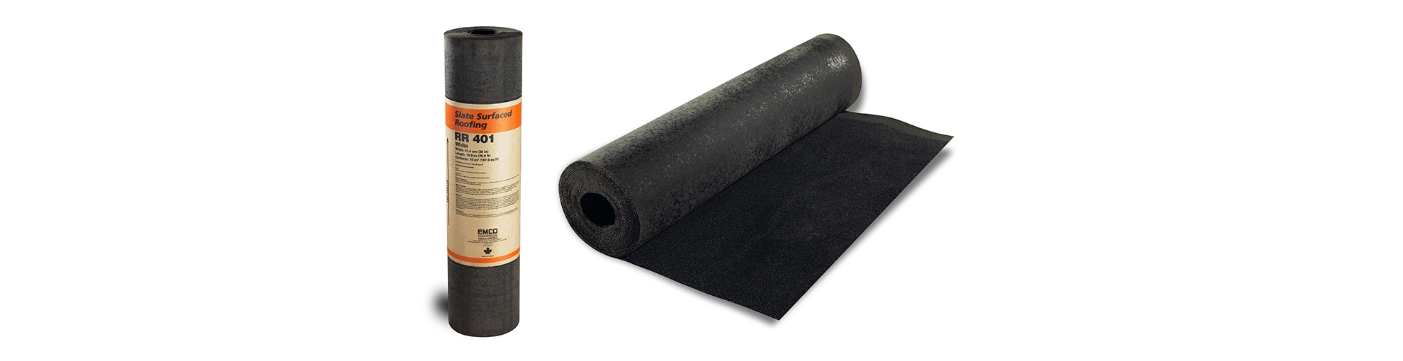 Slate surface roll roofing